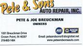 Pete & Sons Auto Repair