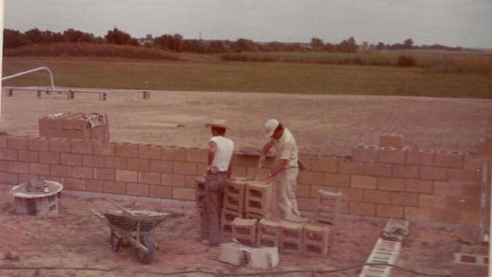 laying brickforthebuilding